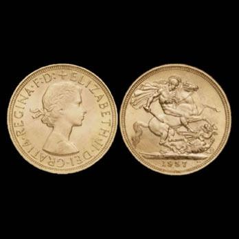 Elisabeth gold coins