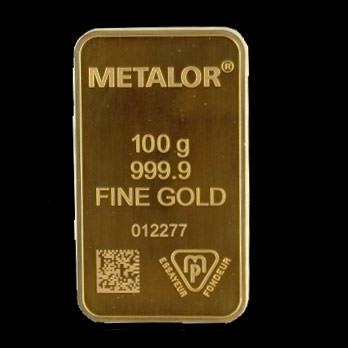 100 gram gold ingot