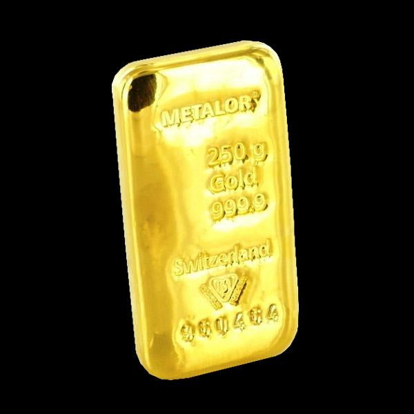 250 gram gold ingot