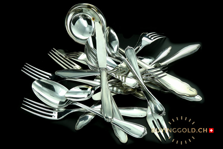 pictures of silver forks and spoons