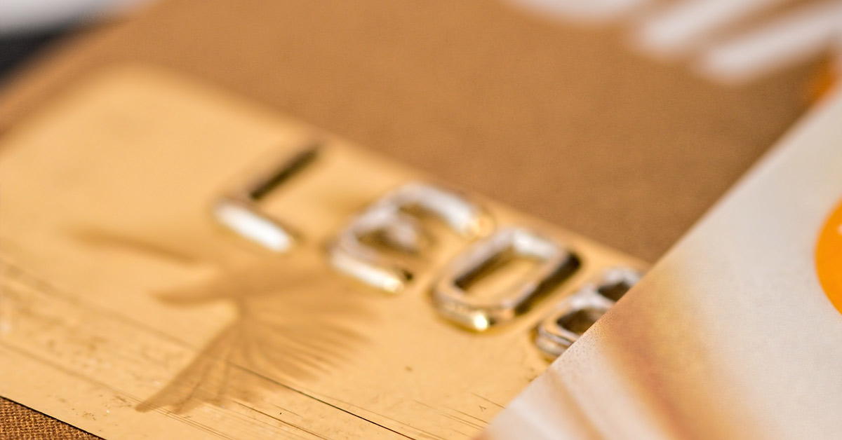 Credit cards made of gold for VIP customers?