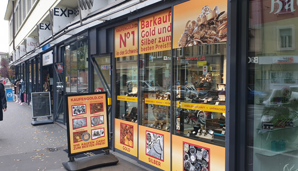 gold buying shop in Basel