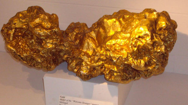 The Welcome Stranger, the biggest gold nugget in the world