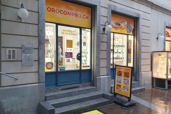 Lugano gold buying shop